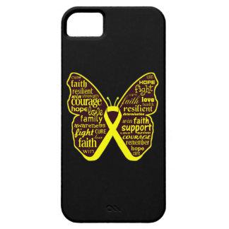 Collage de la mariposa del cáncer del osteosarcoma iPhone 5 Case-Mate coberturas