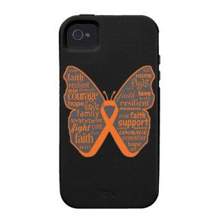 Collage de la mariposa del cáncer del riñón de pal Case-Mate iPhone 4 funda