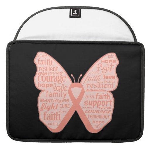 Collage de la mariposa del cáncer endometrial de p fundas macbook pro