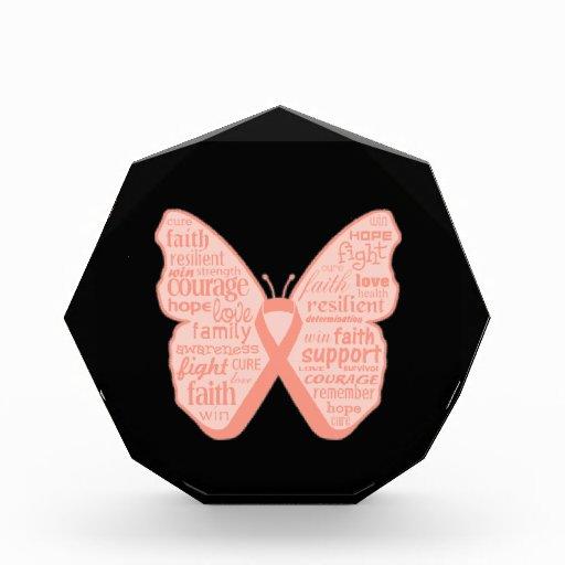 Collage de la mariposa del cáncer endometrial de p