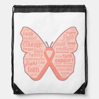 Collage de la mariposa del cáncer endometrial de W Mochilas