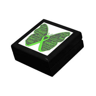 Collage de la mariposa del linfoma de Non-Hodgkins Caja De Joyas