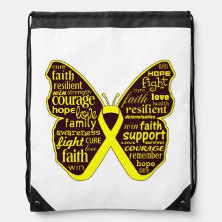 Collage de la mariposa del sarcoma de Ewing de pal Mochilas