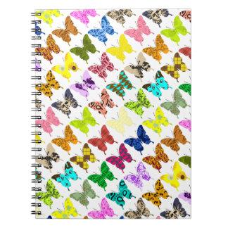 Collage de la mariposa libreta