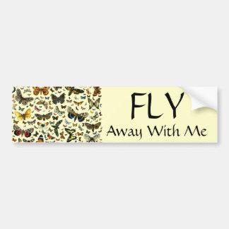 Collage de la mariposa pegatina para auto