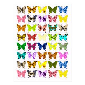 Collage de la mariposa tarjetas postales