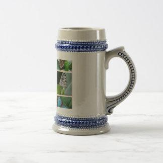 Collage de la mariposa tazas de café