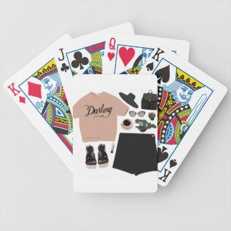 Collage de la moda baraja de cartas bicycle