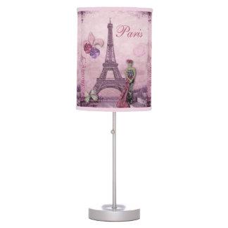 Collage de la moda de la torre Eiffel en lavanda y