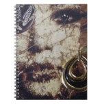 Collage de la mujer del arte moderno cuaderno