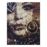 Collage de la mujer del arte moderno plantillas de membrete