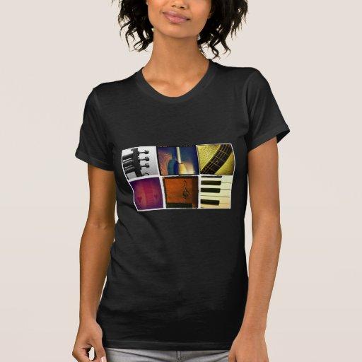 Collage de la música camisetas