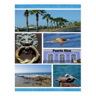 Collage de la naturaleza de San Juan, Puerto Rico Postal