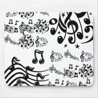 Collage de la nota musical tapetes de ratones