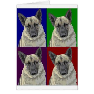 Collage de la oscuridad del pastor alemán tarjeta de felicitación