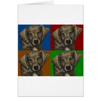 Collage de la oscuridad del perro del Dachshund Felicitaciones
