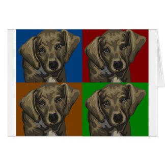 Collage de la oscuridad del perro del Dachshund Tarjeta