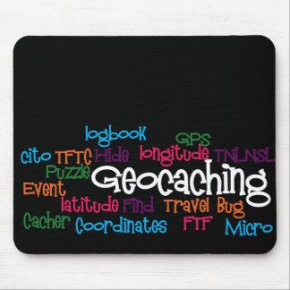 Collage de la palabra de Geocaching Alfombrilla De Ratones