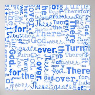 Collage de la palabra de la gracia de Dios Póster