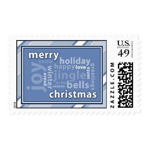 Collage de la palabra de las Felices Navidad en Envio