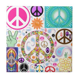 Collage de la paz tejas  ceramicas