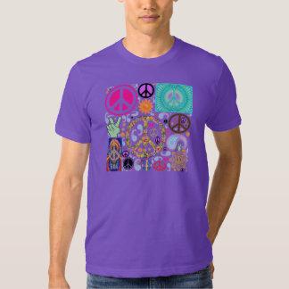 Collage de la paz camisas
