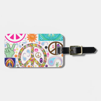 Collage de la paz etiquetas maletas