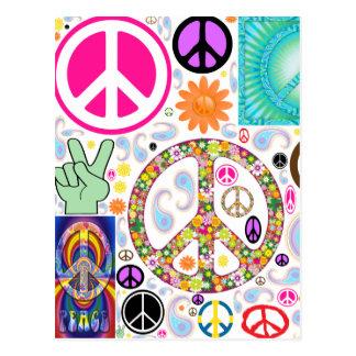 Collage de la paz postal