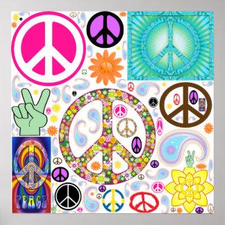 Collage de la paz póster
