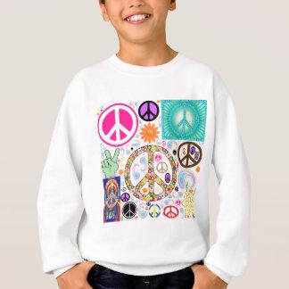 Collage de la paz sudadera