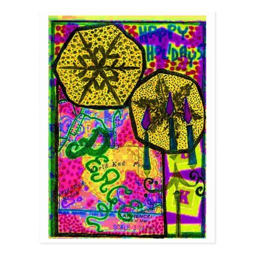 Collage de la paz tarjetas postales