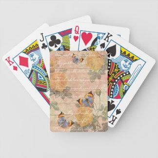 Collage de la poesía baraja cartas de poker