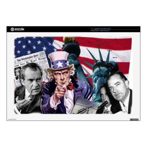 Collage de la política 43,2cm portátil calcomanía
