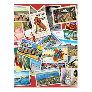 Collage de la postal del vintage