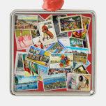 Collage de la postal del vintage ornamento para reyes magos