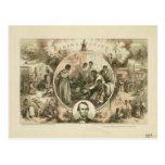Collage de la proclamación de la emancipación de A Postales
