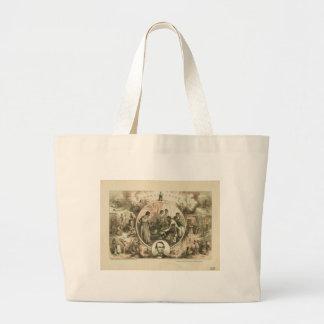 Collage de la proclamación de la emancipación de bolsa tela grande