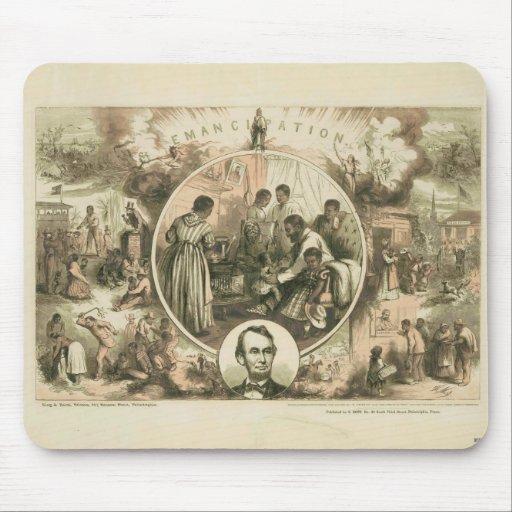 Collage de la proclamación de la emancipación de mousepad