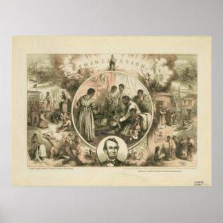 Collage de la proclamación de la emancipación de póster
