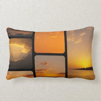 Collage de la puesta del sol almohadas