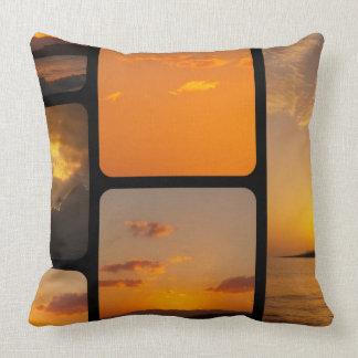 Collage de la puesta del sol almohada