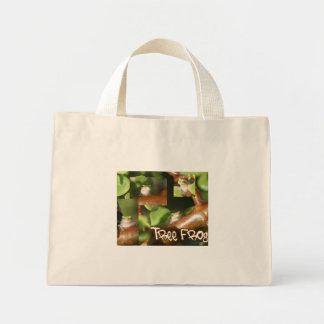 Collage de la rana arbórea, mismas diversas actitu bolsas