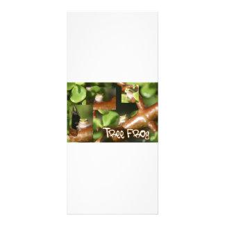 Collage de la rana arbórea, mismas diversas actitu lona publicitaria