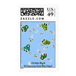 Collage de la rana estampillas