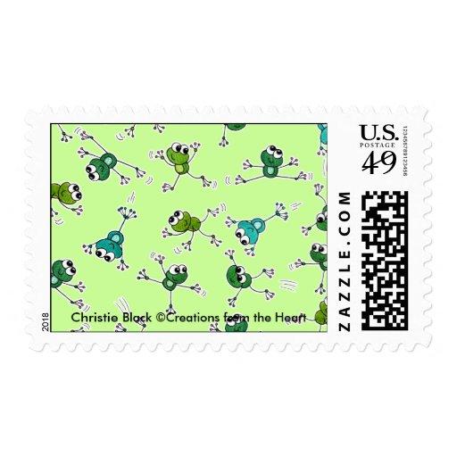 Collage de la rana sello