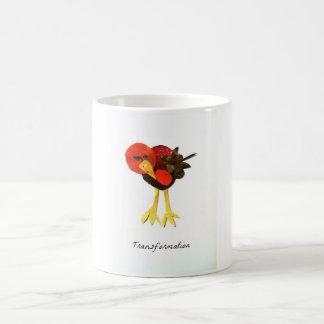 Collage de la revista del pájaro de la taza de café