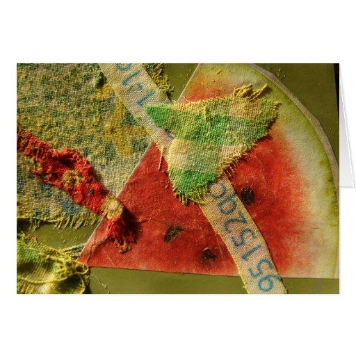 Collage de la sandía tarjeta de felicitación