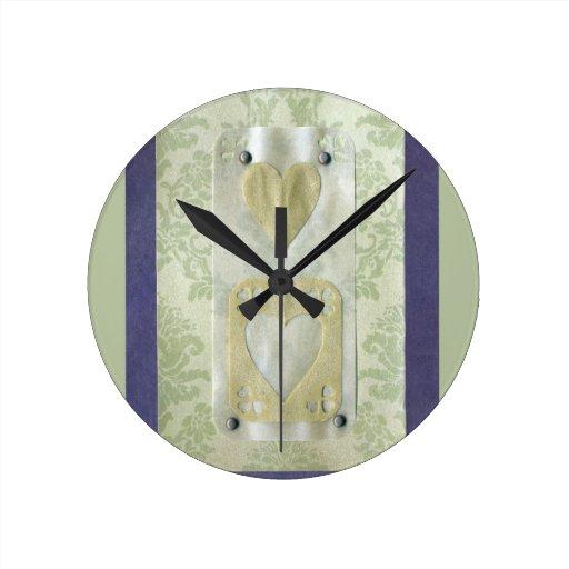 Collage de la serie del amor - corazón # 12 reloj