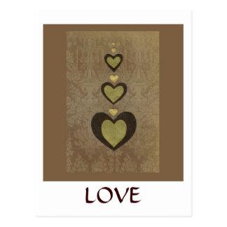 Collage de la serie del amor - corazón # 28 tarjeta postal