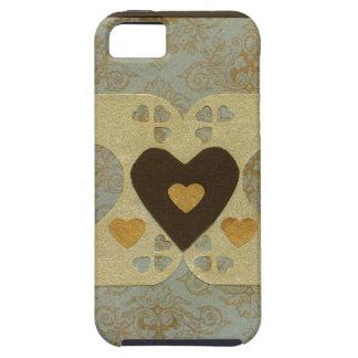 Collage de la serie del amor - corazón # 42 iPhone 5 cárcasa